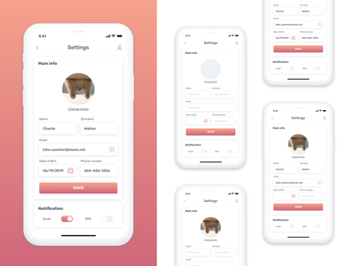 Daily_007 007 ux setting style mobile app dailyui ui concept design