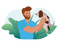 Man With His Puppy