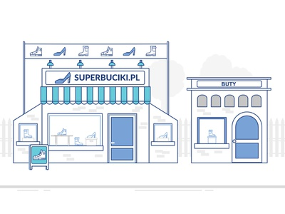 NASK - Domeny interior shop building animation 2d animation explainer animation vector application adobe character flat web icon shoes interface hand explainer video explainer illustrator illustration