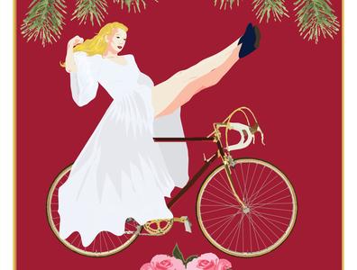 Buckman // Portland retro portland bike single speed vintage woman cyclist illustrator adobe illustrator design digital illustration illustration