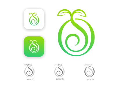 YSO TREE creative  design graphic design branding design graphic gardening brand illustrator creative logo