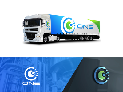 one creative  design graphic design technology design icon graphic brand illustrator creative logo