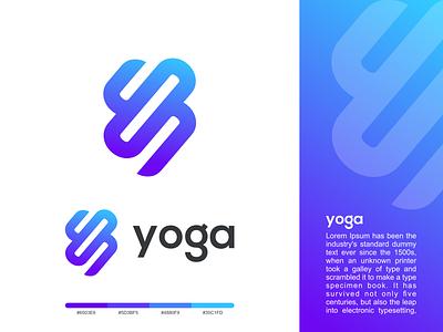 yoga graphic design technology gardening identity graphic brand logo design logo yoga illustrator creative logo
