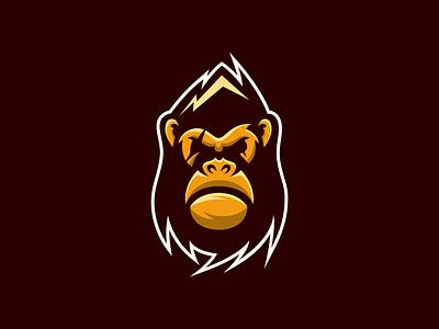 montain gorilla identity tshirt technology icon graphic brand creative photoshop illustrator logo