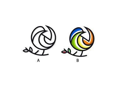 bird graphic design gardening technology design photoshop icon graphic brand illustrator creative logo
