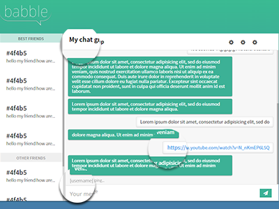 Chat aplication WIP chat app babble