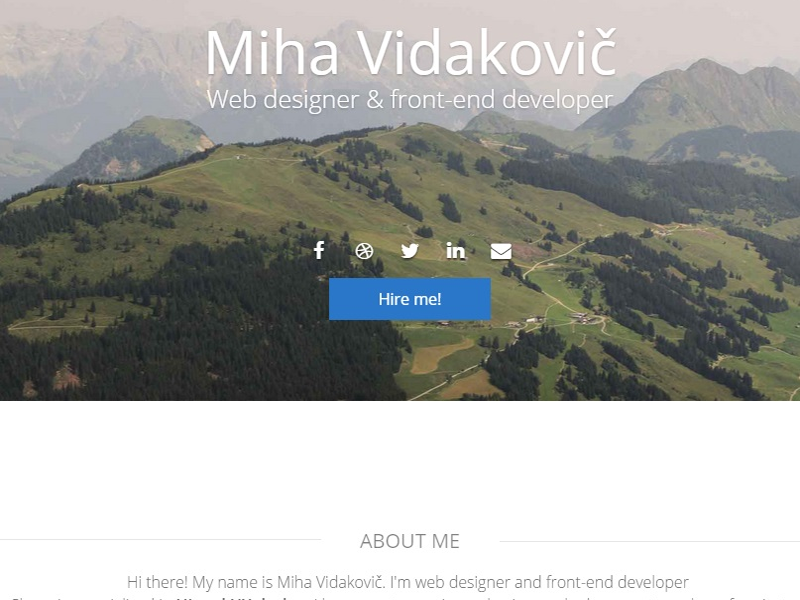 Personal website personal ux ui website mountains