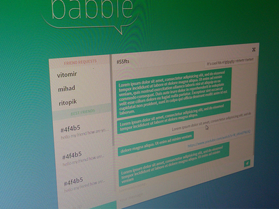 Babble chat chat ui app green
