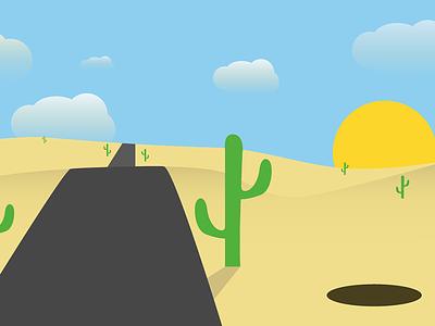Desert desert flat
