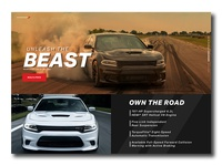 Dodge Charger Landing page
