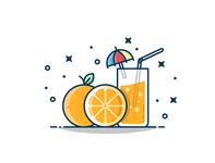 Refreshing orange juice!