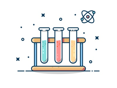 Laboratory Vector with nice color! ui ux laboratory design logo illustration vector flat