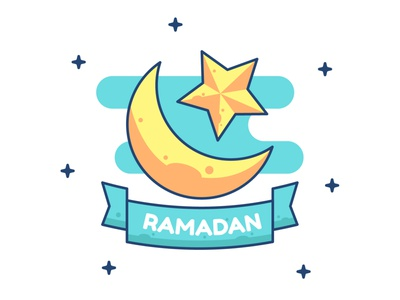 Moon Of Ramadan branding ui ux icons sticker ramadan logo icon vector illustration flat