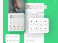 Whatsapp Redsign Concept - profile