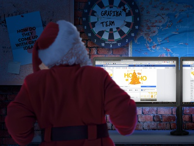 Santa Sneak Peeking