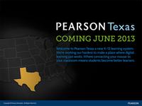 Pearson Texas Coming Soon