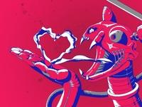 Robocat breathe illustrator vector illustration drawing character design cartoon illustration cartoon
