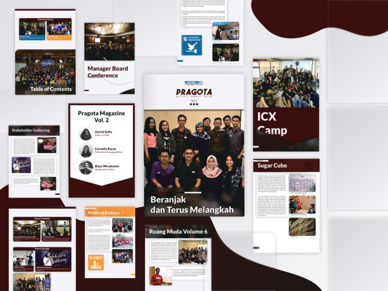 AIESEC Magazine Volume 2 glass maroon red translucent magazine cover magazine design magazine design a5