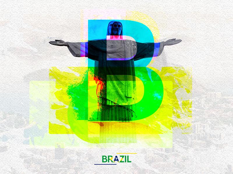 Letter B - Brazil city 36days-b brazil 2dart design 36daysoftype