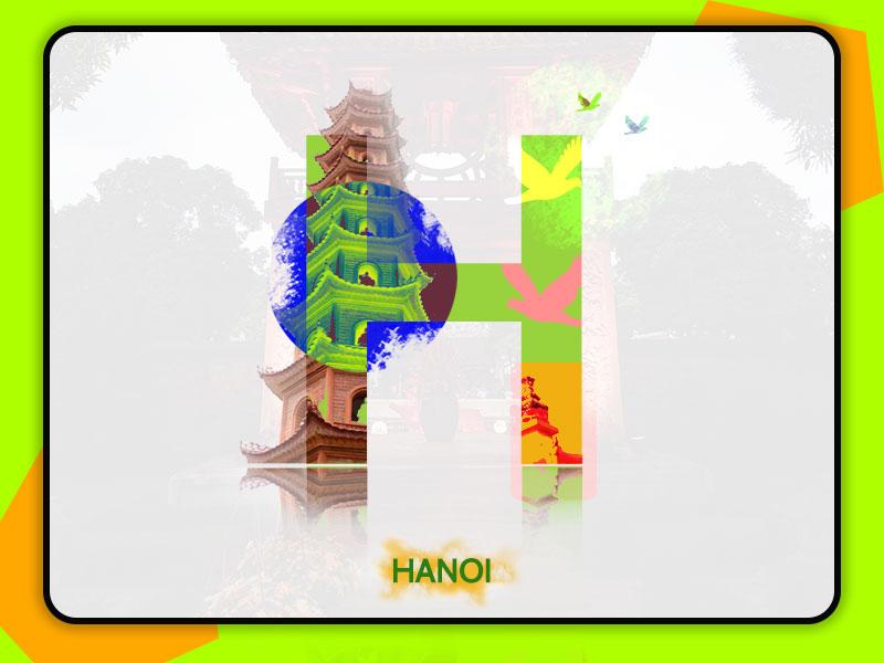 Hanoi City concept art illustration design 36daysoftype 2dart ui