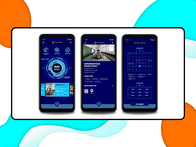 Concept for Meeting Room app concept art futuristic ui app design design 2dart ui