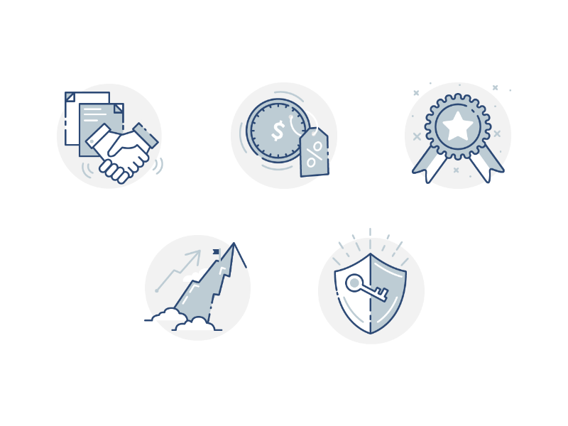 Iconset coin illustration business icon