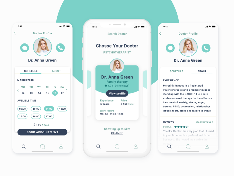 Health App doctor mobile design design iphone uxui ux ui application mobile ios app health