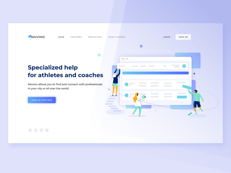 Akivino landing page doctor specialist web deisgn vector design uxui ux business illustration ui uidesign landing page