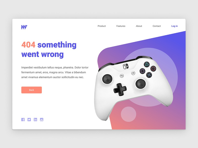 404 Screen for gaming site error 404 page gaming ux daily ui design ui figma daily 100 challenge