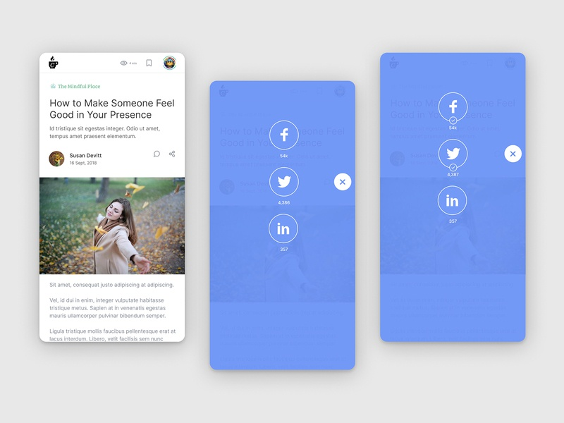 DailyUI 010 Social Share share social visual design iconography mobile ux daily ui design ui figma daily 100 challenge