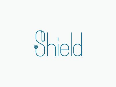 Shield Wordmark logo branding medical doctor custom type mark wordmark s shield stethoscope