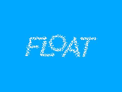 Float float lettering logotype type mark custom logo wordmark