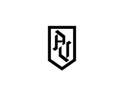 AV v2 type custom crest logomark mark logo athletes badge military v a