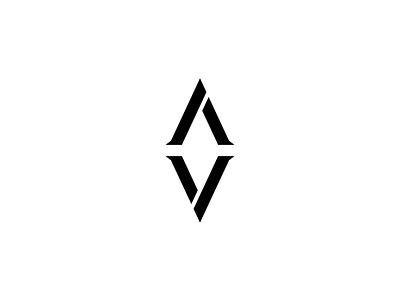 AV v3 type custom logomark mark logo athletes military v a