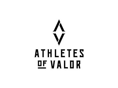 Athletes of Valor Logo v3 type custom a v military athletes logo mark wordmark logomark