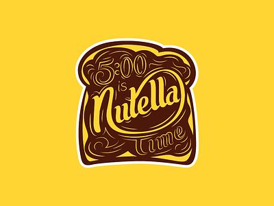 Nutella Time magnet bread spread chocolate type lettering script custom time nutella