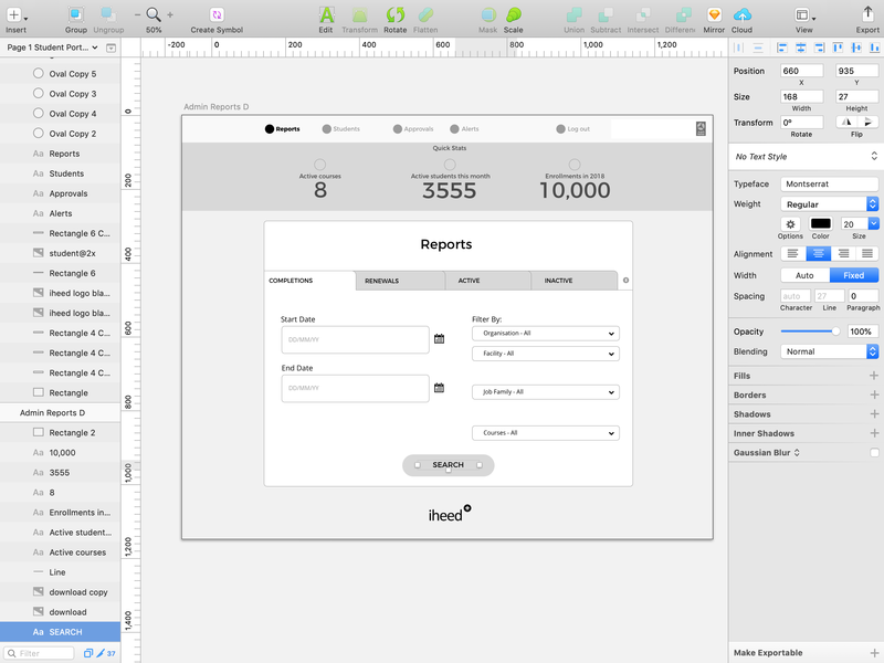 Dashboard wireframe - sketch sketchapp desktop ux design typography wireframes