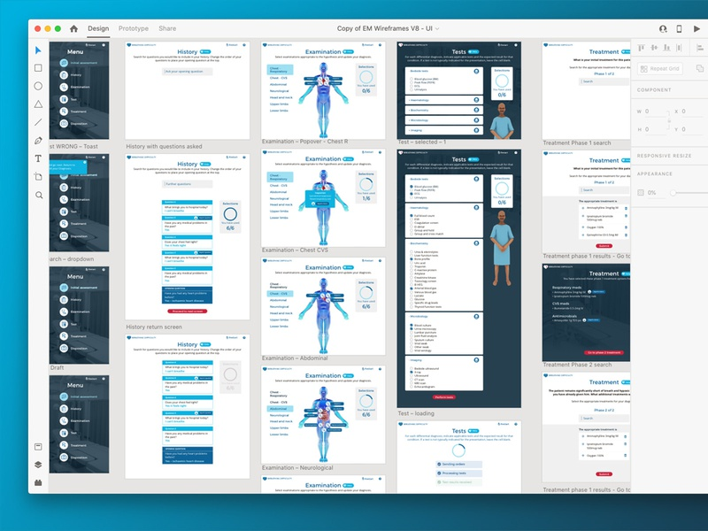 Medical Game App ux uiux ui app design html app game