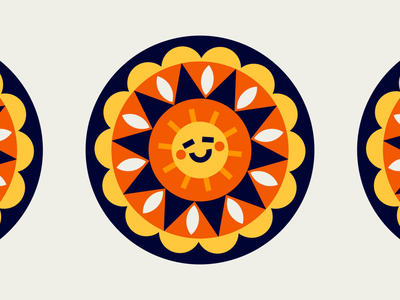 sun buddy illustration sunshine for fun vector pattern kaleidoscope sun