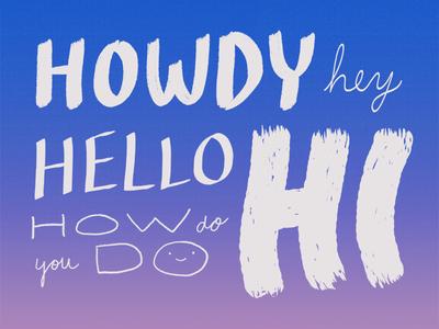 10 million ways to say hello