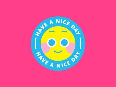 smile b happy have a nice day smiley emoticon illustration vector