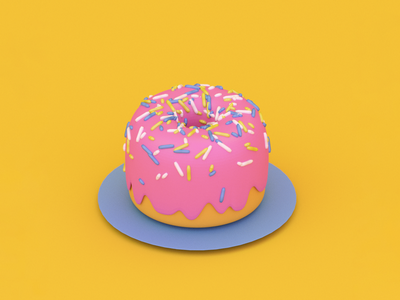 donut try me sprinkles donut blender 3d blender