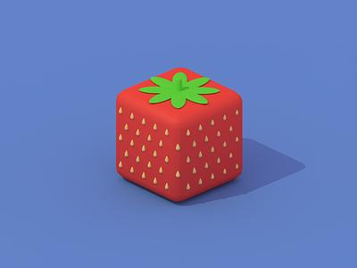 bite size strawberry blender3d blender