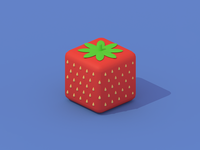 bite size strawberry blender3d blender