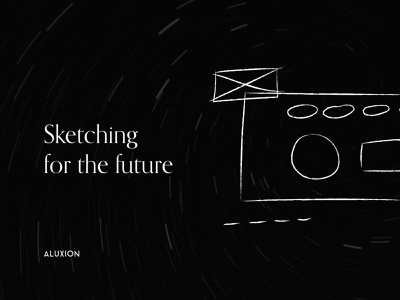 Inspirational quote - Sketching for the future black and white minimalism minimalistic social media design social media illustrator hand drawn branding minimal aluxion illustration design