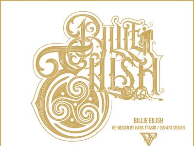 Billie Eilish logo re-design billieeilish typography vector logo graphic artwork