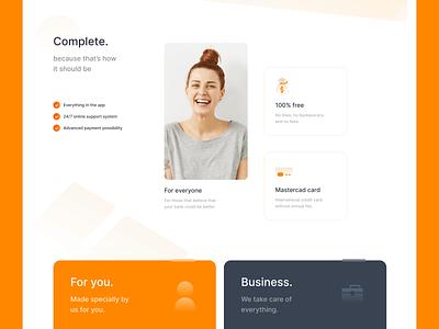 Inter Bank - hero redesign mastercard creditcard bank card card money bank orange webflow interface ui design uidesign brasil brazil