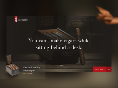 Alec Bradley Cigars - home redesign uiboost brazil brasil web design webdesign website family traditional tradition old school oldschool webflow smoker smoking redesign smoke cigarettes cigarette cigars cigar