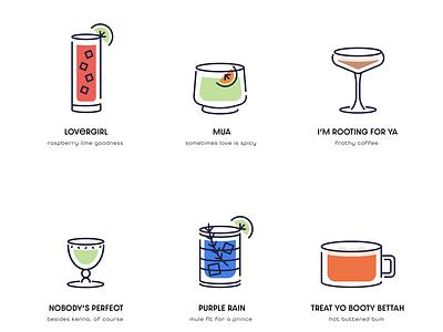 Cocktail Menu happyhour flat bar vector illustration design icon menu cocktail
