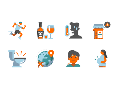 Stay Hydrated causes effects liquid hydralyte icon skin wellness hydration branding illustration